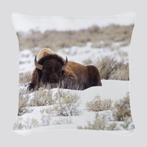 Bison Woven Throw Pillow